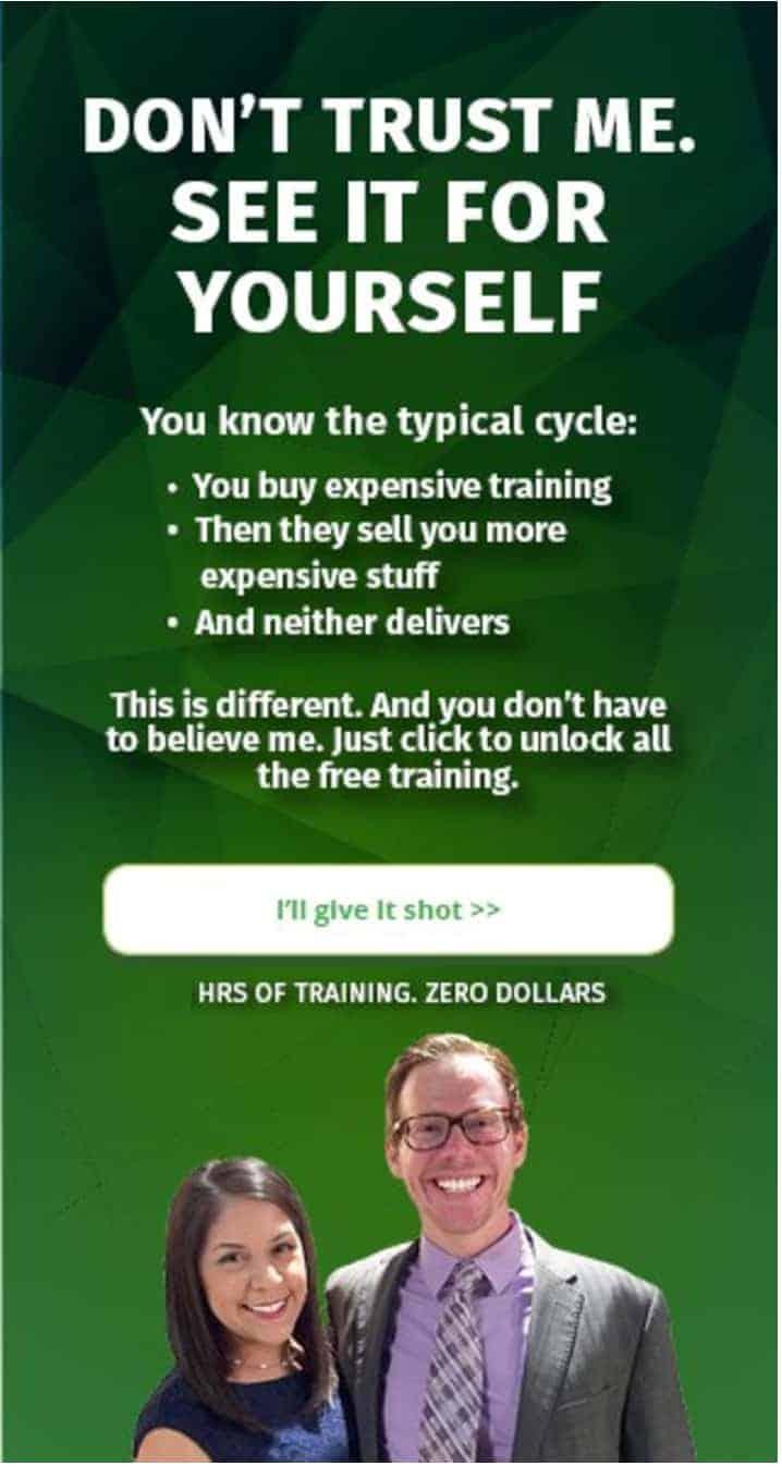 100% Free Training »