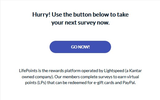 lifepoints survey takes long to arrive 1