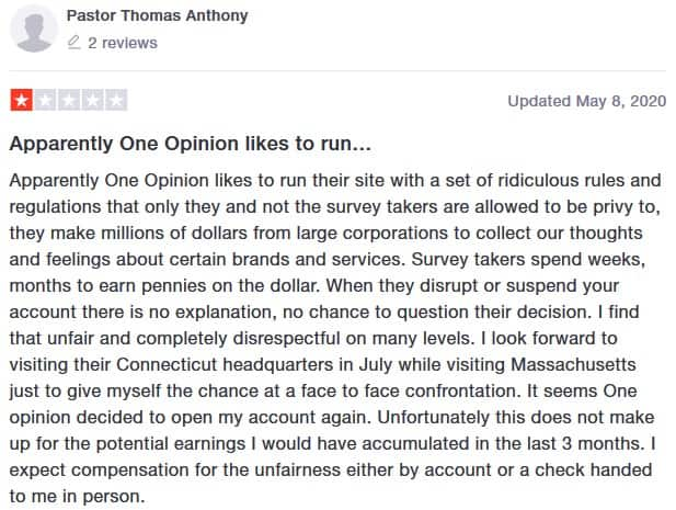 oneopinion bad review 3