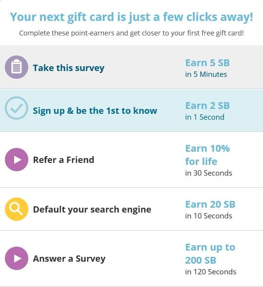 swagbucks new signup survey offer