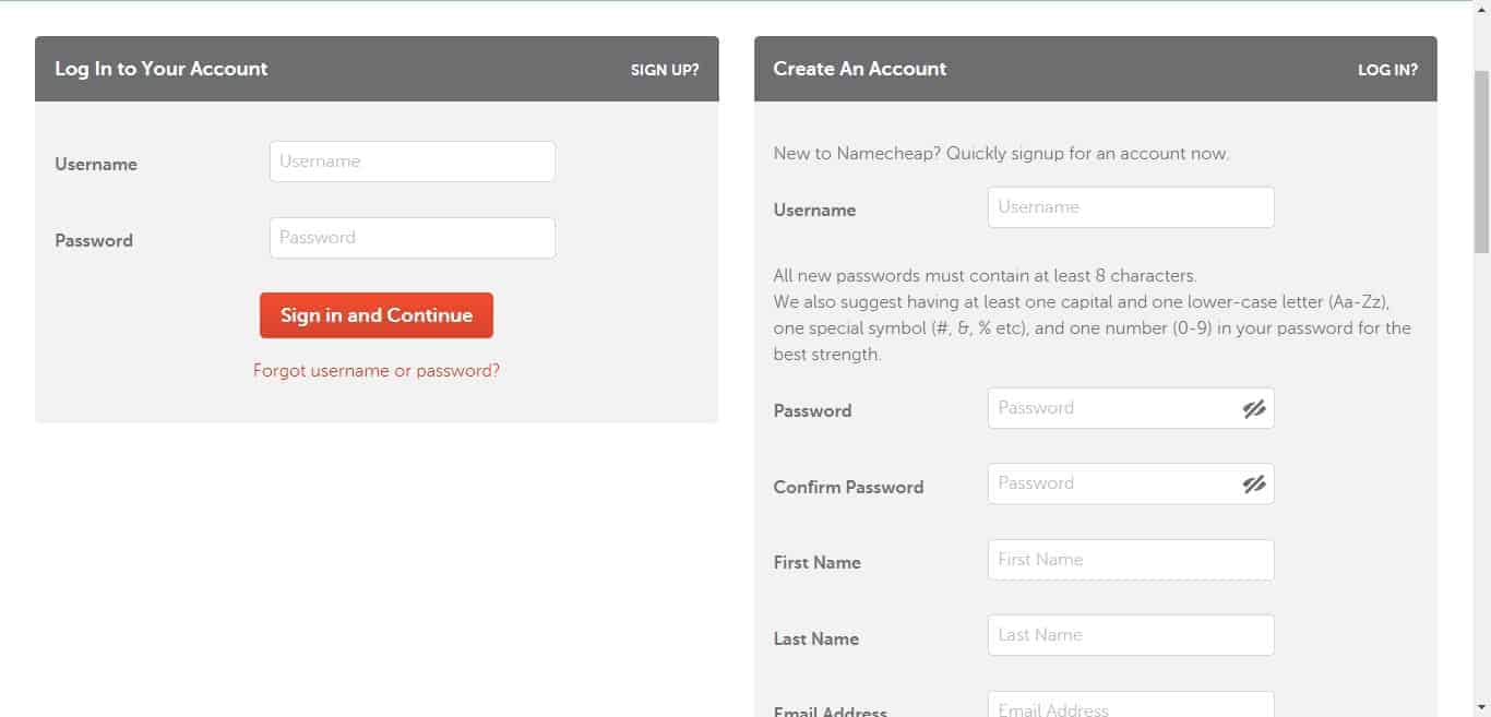 create an account in namecheap and pay