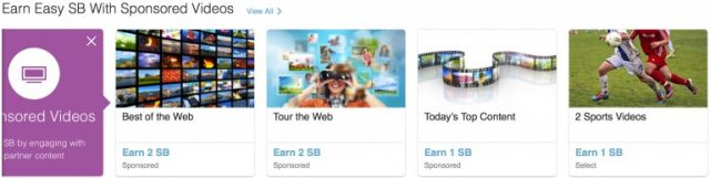 swagbucks sponsored videos