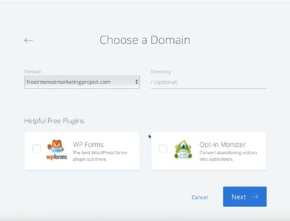add domain name for your wordpress site