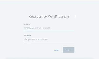 add site name and site tagline