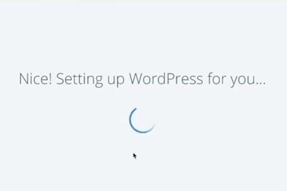 wordpress site is setting in bluehost