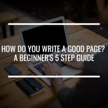 write a good page featured image