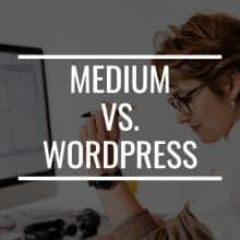 medium vs. wordpress featured image