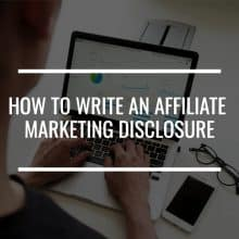 affiliate marketing disclosure