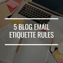 blog email etiquette rules featured image