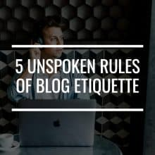 blog etiquette featured image