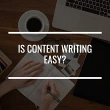 is content writing easy featured image